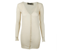 Damen Strickjacke beige Gr. 36