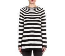 Damen Merino Pullover MO10ST schwarz weiß