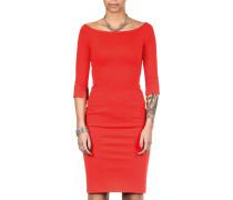 Damen Jersey Kleid lang rot