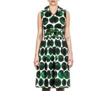 Damen Sommerkleid grün weiß