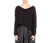 Damen Pullover asymmetrisch schwarz