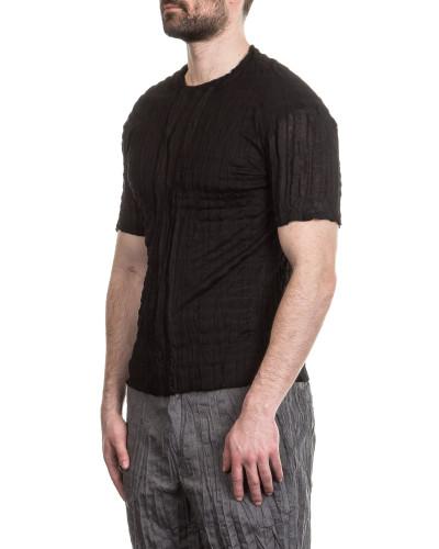Herren T-Shirt Crashed Look schwarz