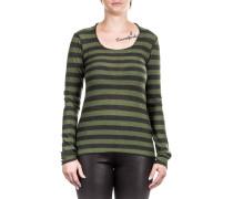 Damen Merino Pullover HEN10YA grün grau