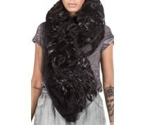 Damen Feder Schal schwarz
