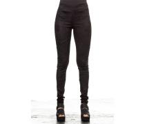 Leder Leggings schwarz