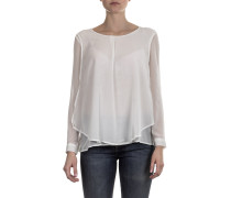 Damen Bluse Layer Look weiß