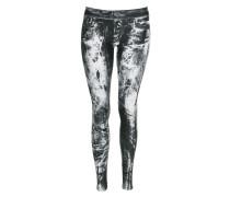 Damen Leggings black/white