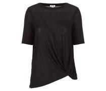 Shirt mit Drappierung schwarz