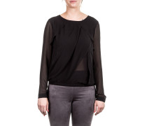 Damen Bluse Layer Look schwarz