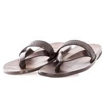 Damen Leder Flip Flops CROSS braun