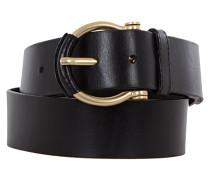 Damen Ledergürtel schwarz Gr. 80