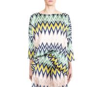 Damen Shirt Zick Zack Print multicolour