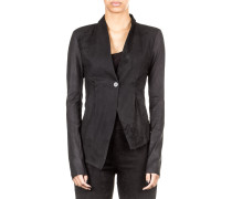 Damen Lederjacke asymmetrisch schwarz