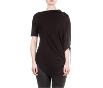 Damen Shirt asymmetrisch schwarz