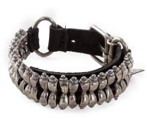 Armband BR203 schwarz silber