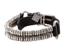 Armband BR915 schwarz silber