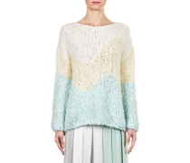 Damen Grobstrick Pullover beige