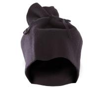 Damen Schal Mütze NECK schwarz