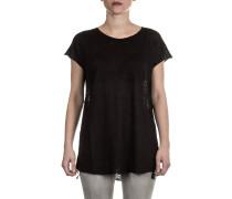 Damen Leinen Shirt schwarz