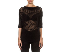Damen Netz Shirt schwarz