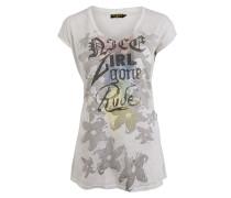 T-Shirt Girl Gone Rude grauweiss