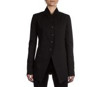 Damen Jacke mit Plisse schwarz