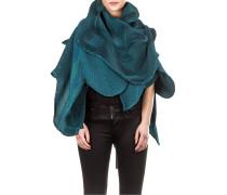 Plissee Schal türkis