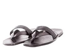 Herren Leder Flip Flops CROSS schwarz