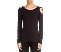 Black Label Damen Langarm Shirt Avantgarde schwarz