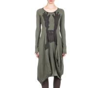 Dip Damen Kleid mit Print dunkelgrün