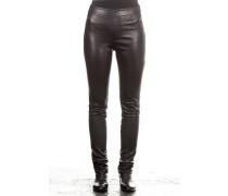 Damen Leder Leggings schwarz