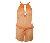 Seiden Top Kleid orange