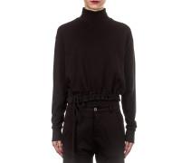 Damen Baumwoll Sweatshirt schwarz