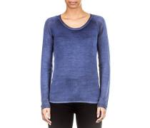 Damen Kaschmir Mix Pullover blau