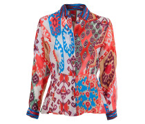 Seiden Bluse FLIRTY ornamental neon