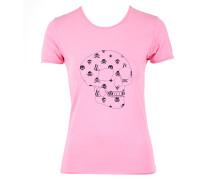 Damen T-Shirt SCULL rosa Gr. M