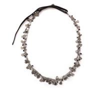 Silberkette mit Leder CN1107.schwarz silber