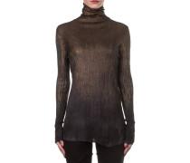 Damen Kaschmir Mix Rollkragen Pullover schwarz bronze
