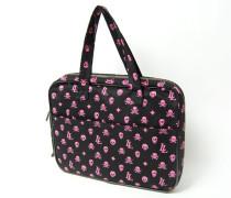 Laptoptasche schwarz/pink
