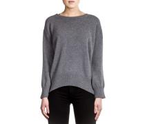 Damen Kaschmir Mix Pullover grau