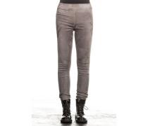 Damen Leder Leggings grau