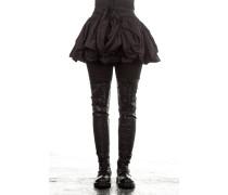 Damen Wickelrock Avantgarde schwarz