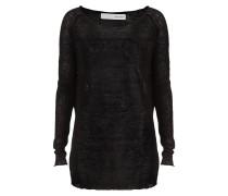 Leinen Pullover schwarz