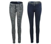 Reversible Jeans zum Wenden bleulead/snake