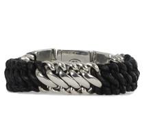 Armband BEN MIX schwarz silber