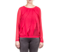Damen Bluse Layer Look rot