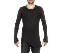 Herren Langarm Shirt asymmetrisch dunkelgrau
