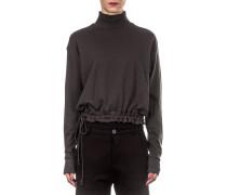 Damen Baumwoll Sweatshirt khaki