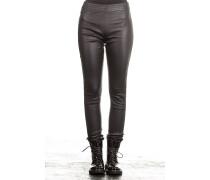 Damen Leder Hose schwarz