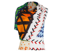 Damen Shirt Asymmetrisch multicolour